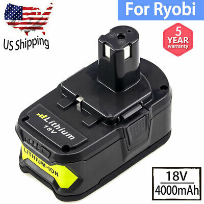 4.0Ah Replace for Ryobi 18V Battery Lithium ONE+ P108 P109 P107 P104 P105 P102