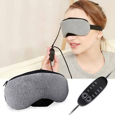 USB Warm Heating Sleep Mask Blindfold Eye Goggle Pillow with Temperature Control