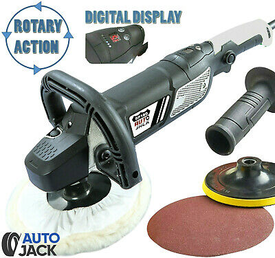Rotary Polisher Car Set Polishing Buffer Wax Kit Variable Speed