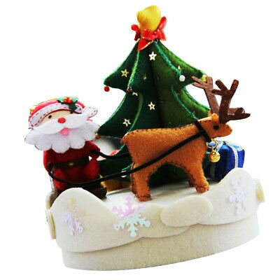Christmas Music Box Felt Craft Kit For Adult Beginners Unfinished