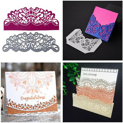 Lace Border Edge Metal Cutting Dies Stencil Scrapbooking Card Embossing Decor