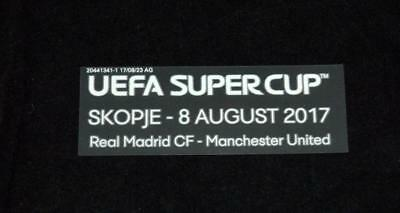 Official Real Madrid Vs Manchester United 2017 Super Cup Match detail patch