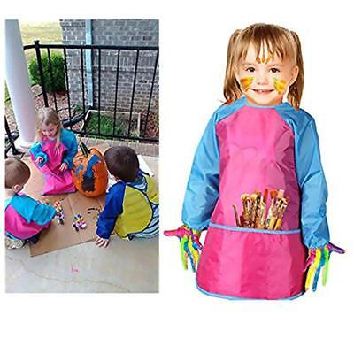 Children Kids Waterproof Art Smock Oilproof Painting Drawing Apron Clothes JA