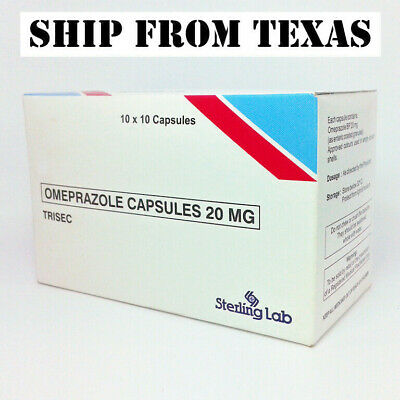 Omeprazole 20mg capsules Acid Reducer for Delayed Release, Gastritis & HeartBurn