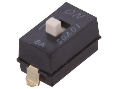 2x SDA01H1SBD Switch DIP-SWITCH Poles number1 OFF-ON 0.025A/24VDC 100MΩ