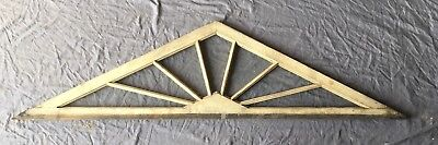 Antique 7 Lite Triangle Transom Window Sash Old Vtg Shabby Peaked Gable 446-18E