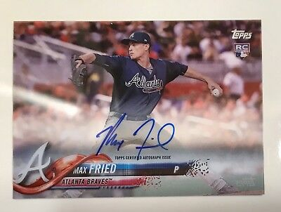 Atlanta Auto Max >> 2018 Topps Clearly Authentic Rookie Auto Max Fried Atlanta