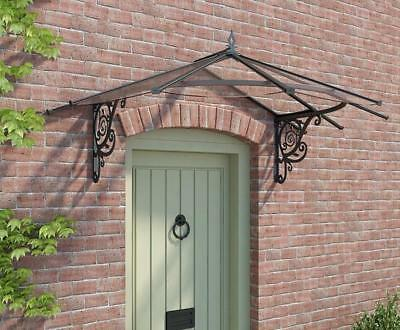Palram Lily Door Canopy Awning Rain Shelter Front Back Porch  Patio Roof