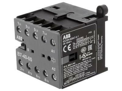 B7-40-00-01 Contactor 4-pole 24VAC 7A NO x4 DIN, on panel Series B7  ABB