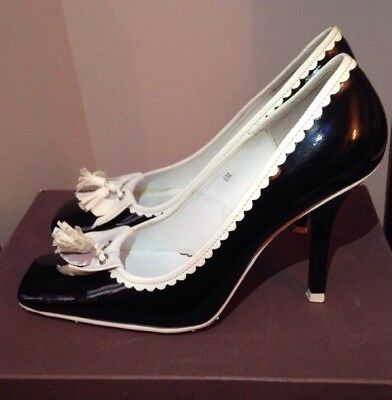 2ea37099ab Charles David Women's Shoes Pumps Heels- Black/ White Size 6M Tassels Frill