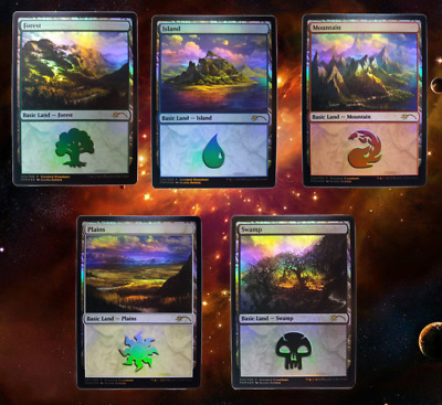 MTG Standard Showdown Foil Land - Forest, Island, Mountain, Plains, Swamp Promo