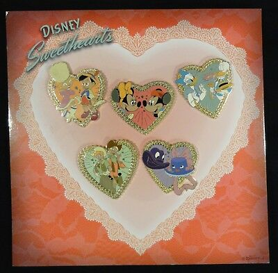 Walt Disney Sweetheart 5 Pin Limited Edition Set 1000