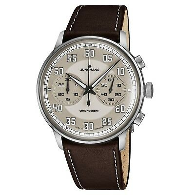 Junghans Men's Meister Driver Chronoscope Self Winding Brown Watch 027/3684.00