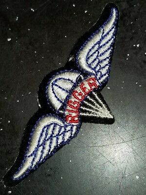 WWII US Army AAC Rigger Parachute Wings Patch Priced to Sell