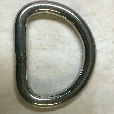 "50 Metal D-Rings Heavy Duty Welded 1""- 25.4 mm for Equestrian Tack Rope Rigging"