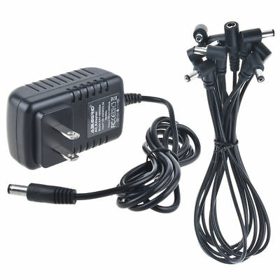 8 Ways Daisy Chain Cable Electric Guitar Effect Pedal Power Supply Adapter 9V