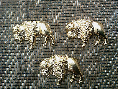 Western Zoo Animal Jewelry 1 Gold Plated Buffalo Bison Pin All New.
