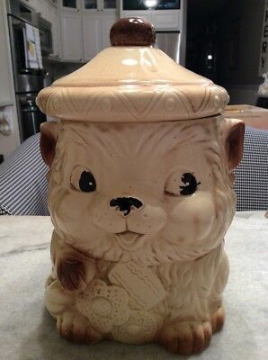 Vintage Cookie Jar Dog Puppy Bear