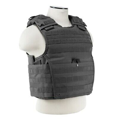NcStar VISM GRAY Tactical MOLLE Operator Plate Carrier Body Armor Chest Rig
