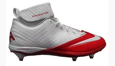4df55c685cf NIKE Lunar Superbad Pro TD Men s Football Cleats Red White 511334-112 Size  18