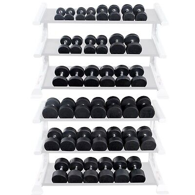 Rubber Round Dumbbells 5 lb to 100 lb Body-Solid Weights SDP Sold as SINGLES