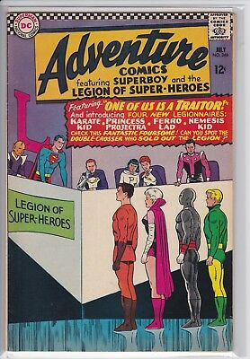 Adventure Comics #346 (VG/FN) 1st Karate Kid, 1966 Superboy Legion Super-Heroes