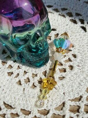 Tooth Fairy, Fairy Godmother, Bridal Wand Keepsake Scepter Swarovski Beads VTG