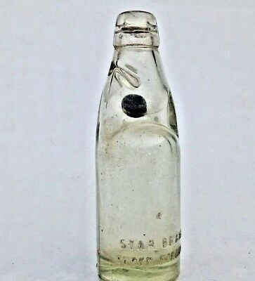 Vintage Codd Neck Bottle Extra Strong Glass Marble Antique Patent Star Brand