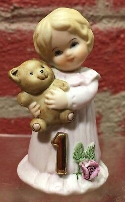 Enesco Growing Up Girls  Age 1  Blonde  VGC  Dated 1981