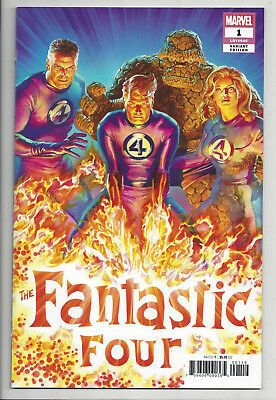FANTASTIC FOUR #1 ALEX ROSS 1:50 VARIANT Torch Thing Invisible Woman 2018 NM- NM