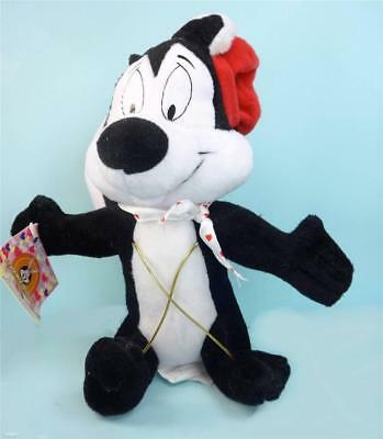 Cute Looney Tunes PEPE LE PEW in French Hat Plush Doll