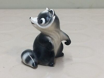 Small Vintage Ceramic Raccoon Figurine