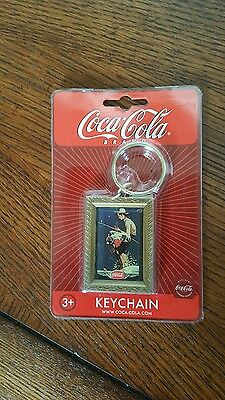 Coca Cola Key Chain N. Rockwell Out Fishing