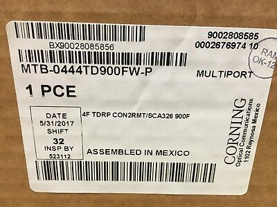Corning Fiber Optic Cable Multiport Terminal 900' 4 Port Stubbed - 8 New boxes