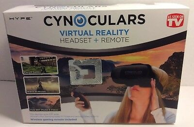 Cynoculars Virtual Reality Headset & Remote - As Seen On TV NEW