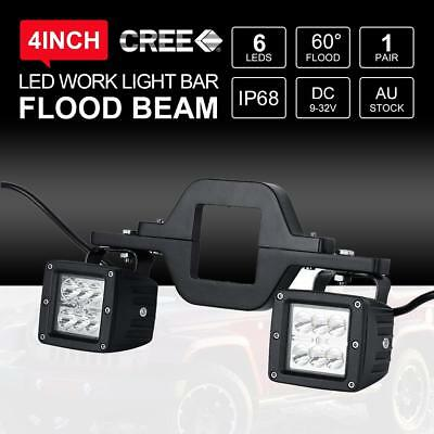 """Universal Tow Hitch Dual Mounting Brackets+2X4"""" 30W PHILIPS Flood Beam Boat Lamp"""