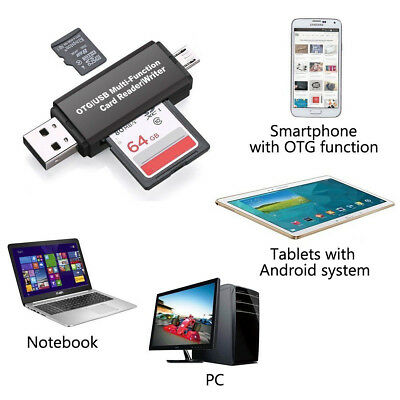 Universal Memory Card Read Write Adapter Micro USB OTG for Laptop Phone Tablet