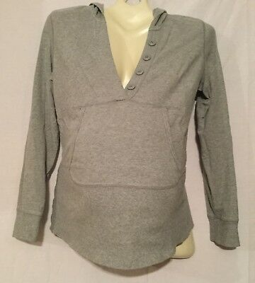 Old Navy Maternity Gray Pullover Hoodie - Size Medium