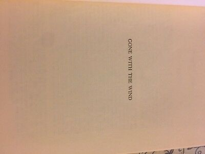 """""""Gone With the Wind"""" Margaret Mitchell Hardcover Book"""
