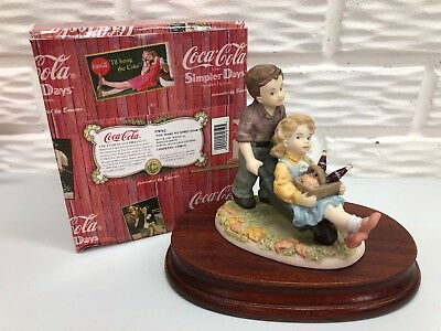 Coca-Cola Simpler Days 1999 You Make My Spirits Soar #578762 Double Figurine