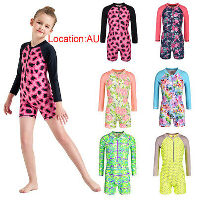 AU Stock Boys Girls Kids Swimsuit Swim Costume Swimwear UV+50 Protective Bathing