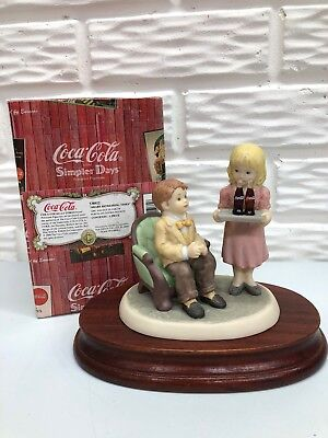 Coca-Cola Simpler Days 1998 Share Refreshing Times #538922 Double Figurine