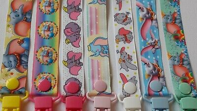 NEWBORN / DUMBO / ELEPHANT  / Dummy Clip / Dummy Clips / Pacifier Clips / Ribbon