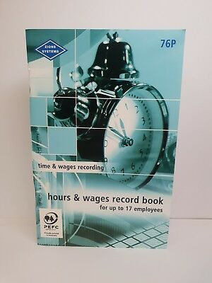 Zions #76P Pocket Hours and Wages Record Book - ZN76P