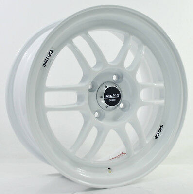 4pcs ENKEI RPF1 15 inch Mag Wheels Rim 4X100 Alloy wheel Rims Car WHITE -1