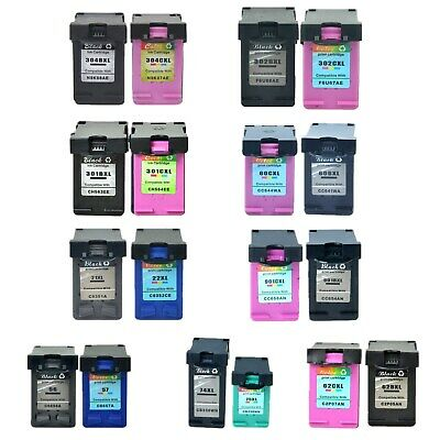 Black Colour Ink Cartridge for HP 301XL 302XL 304XL 62XL 901XL 21XL 22XL 56 57