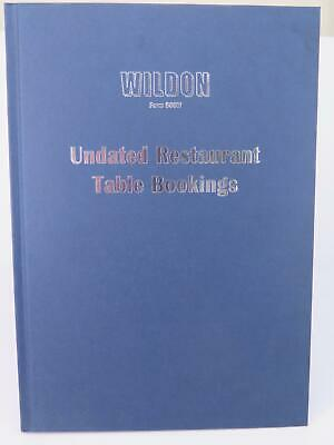 Wildon Undated Table Bookings Book 160 Pages Navy Blue Restaurant WIL580*