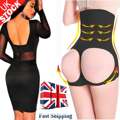 Butt Lifter Tummy Control Enhancer Bum Panty Black High Waist Shapewear Lace HOT