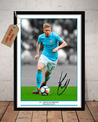 Kevin De Bruyne Manchester City Autographed Signed Football Photo Print
