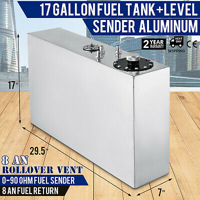 17-gallon aluminum fuel cell gas tank+level sender Custom open-cell smaller
